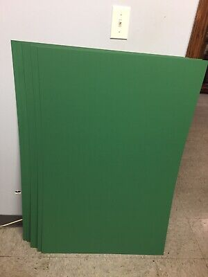 Crescent Poster Board, 14-ply, Green, 22x28, Qty 10 Sheets, #653. Green Poster Board