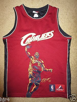 LeBron James #23 Cleveland Cavaliers NBA Finals Jersey Youth M 10-12 children