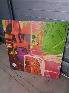 Abstract Art on Canvas Wyndham East Kimberley Area Preview