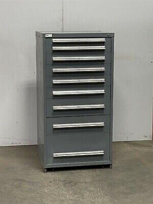 Used Stanley Vidmar 9 Drawer Cabinet Industrial Tool Storage Bin 2424