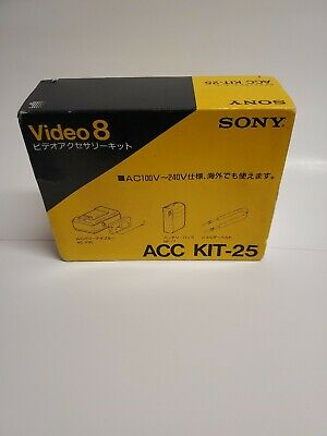 Sony Handycam ACC KIT 25 Power Adaptor Battery Charger Video 8 Remote NP 77 Vtg Camcorder Power Kit