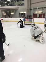 Ice hockey goalie instructor
