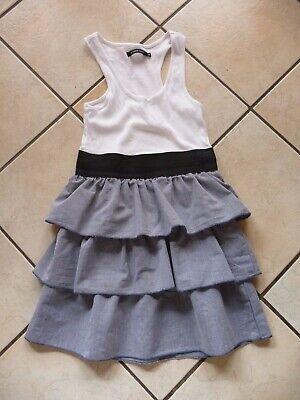 Kleid Gr. S kurz blau weiß ärmellos Stretchbund  Stufen Karneval Fasching - Blau Weiß Kleid Kostüm