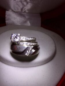 3 Rings; engagement & man/woman's wedding bands