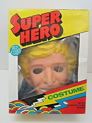 VINTAGE 1979 DUKES OF HAZZARD BEN COOPER COSTUME & MASK IN BOX