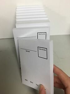 30x waiter pads for cafe coffee shop Ultimo Inner Sydney Preview