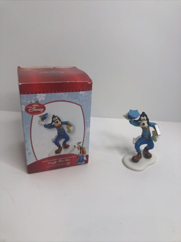 """Department 56 Disney 2012 """"Goofy for Gas"""" Mickey"""