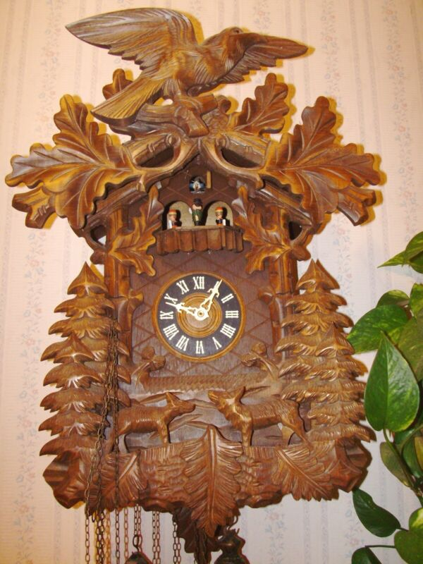 8 day musical cuckoo clock has run well, cleaned, oiled is working sporadically