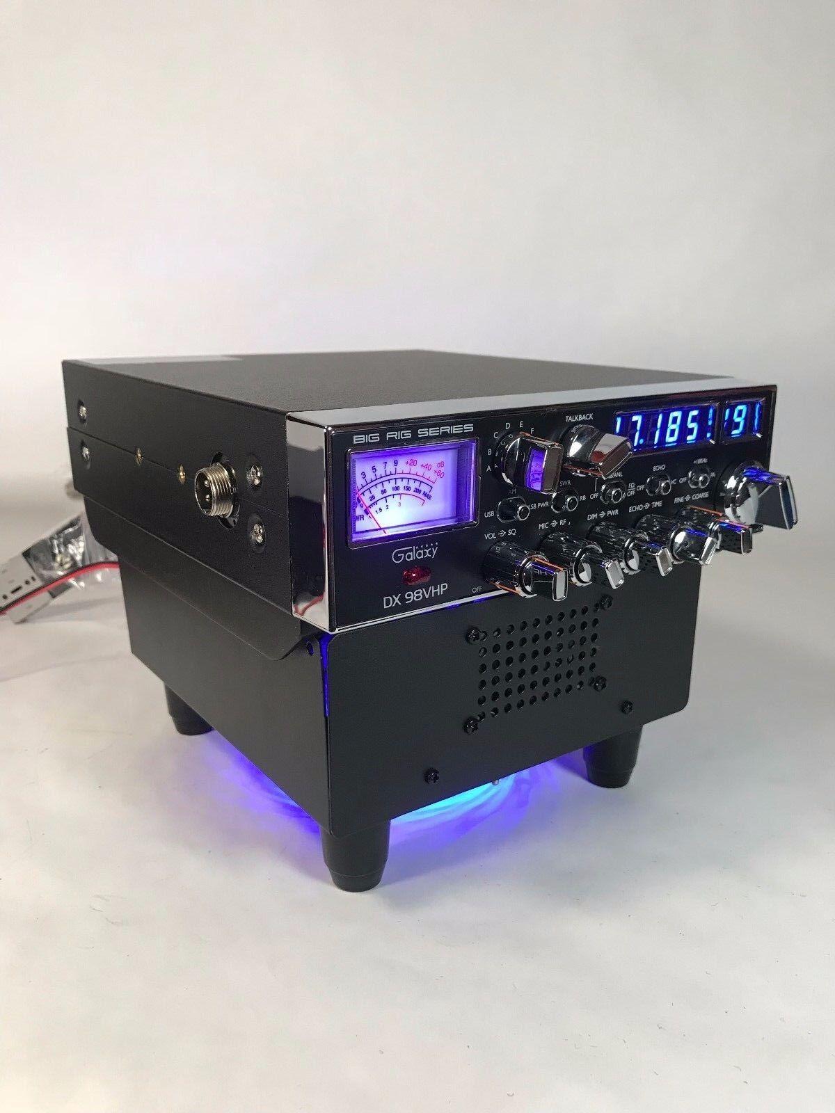 BLUE LED FAN KIT BASE STAND w/ Built In Ext Speaker GALAXY R