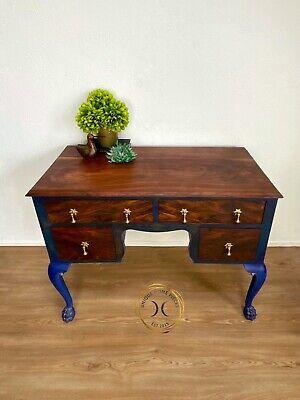 Antique Rosewood Lion Foot Dressing Table Desk