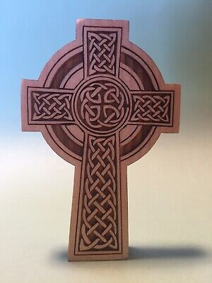 Celtic Cross, Solid Wood, 3 Inch Tall