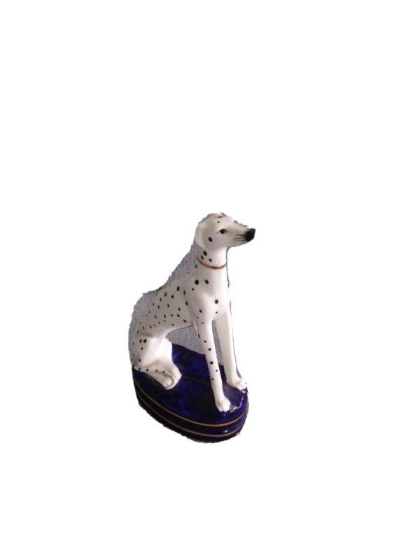 Porcelain Dalmatian Dog Statue.