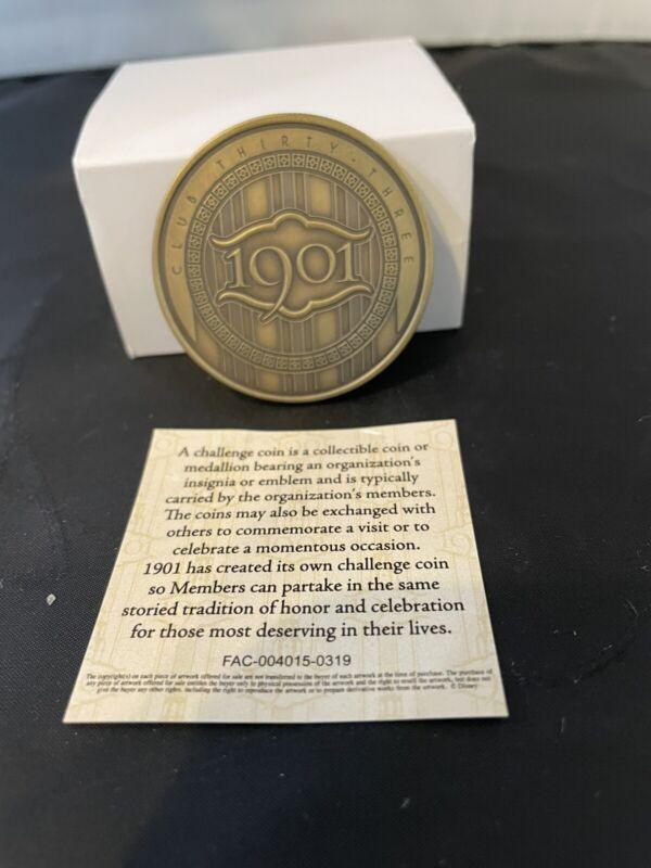 Disneyland club 1901 challenge coin