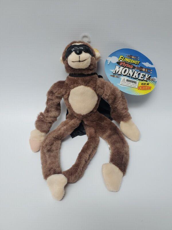 BRAND NEW Flingshot Slingshot Flying Screaming Monkey Black Cape & Mask