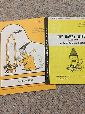 Lot of Four Halloween Piano Solos by Bastien and Noona 1979 and - Halloween Piano