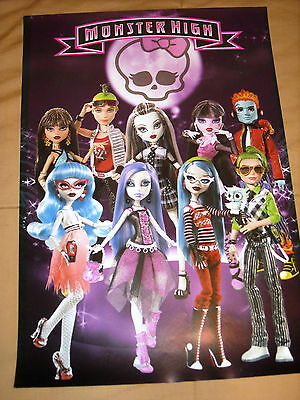 MONSTER HIGH DOLLS MINI POSTER 16 X 11 COLLECTABLE POSTER