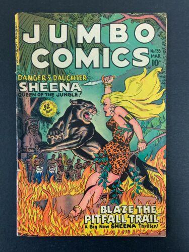 JUMBO COMICS #133 *VG+ (4.5) (FICTION HOUSE, 1950)  SHEENA!!  LOTS OF PICS!!