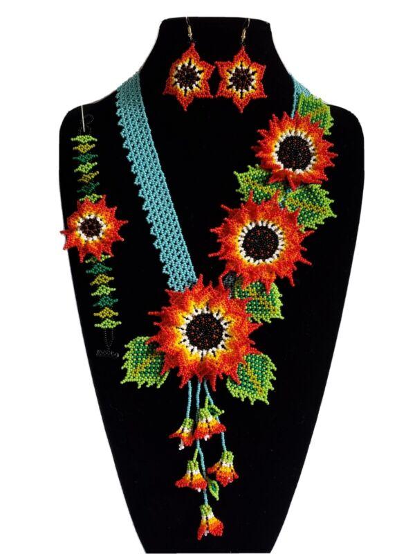 huichol beads,3 pcs mexican women