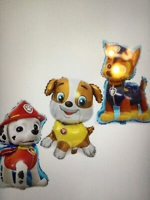 "3 pc PAW PATROL Birthday Party Balloon Balloons Supplies Decoration dog 31"" - Paw Patrol Decorations"