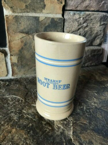 Vintage Stearns Root Beer Mug Stein, Advertising, Country Store, Crockery, Soda