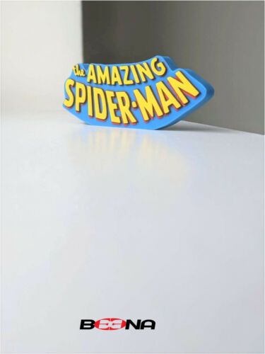 Decorative Marvel THE AMAZING SPIDER-MAN self standing logo display (Bronze Age)
