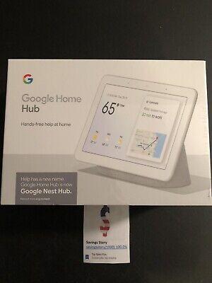 "Google Nest Hub 7"" - Chalk white -  w/ Google Assistant - Home Hub New In Box"