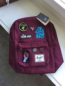 Herschel Backpack with Band Patches