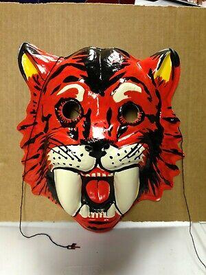 Vintage 1960s sabre tooth tiger Halloween mask mint rare prehistoric halloween