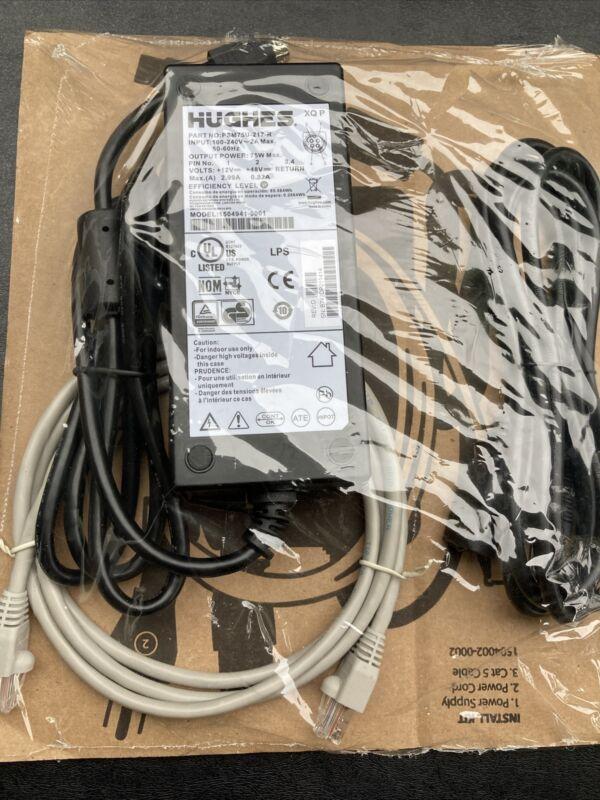 Hughes Power Supply Adapter Unit 1504941-0001 PSM75U-217-R 12V 2.99A 48V .82A