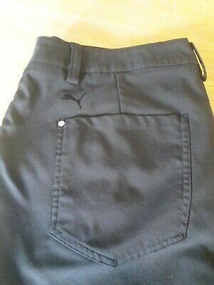 Mens Puma Golf Black Trousers W34 L32