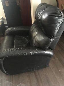 Leather recliner $75
