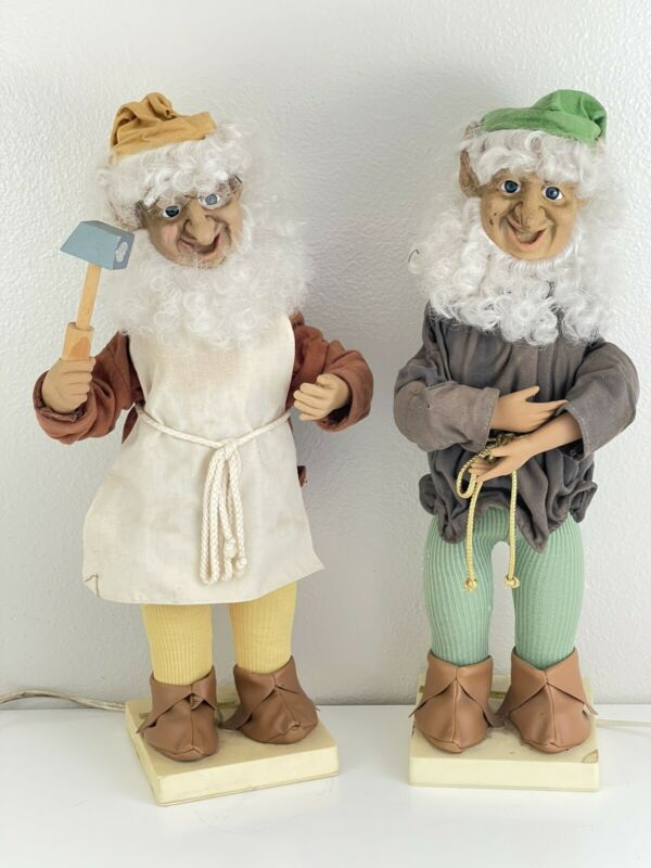 "Vintage Telco Christmas Motionette Animated Elf Pixie 21"" SANTA"
