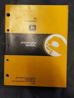 Original John Deere 80 Excavator Operators Manual