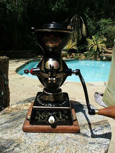Antique Enterprise No. 1 Coffee Mill Grinder Restored