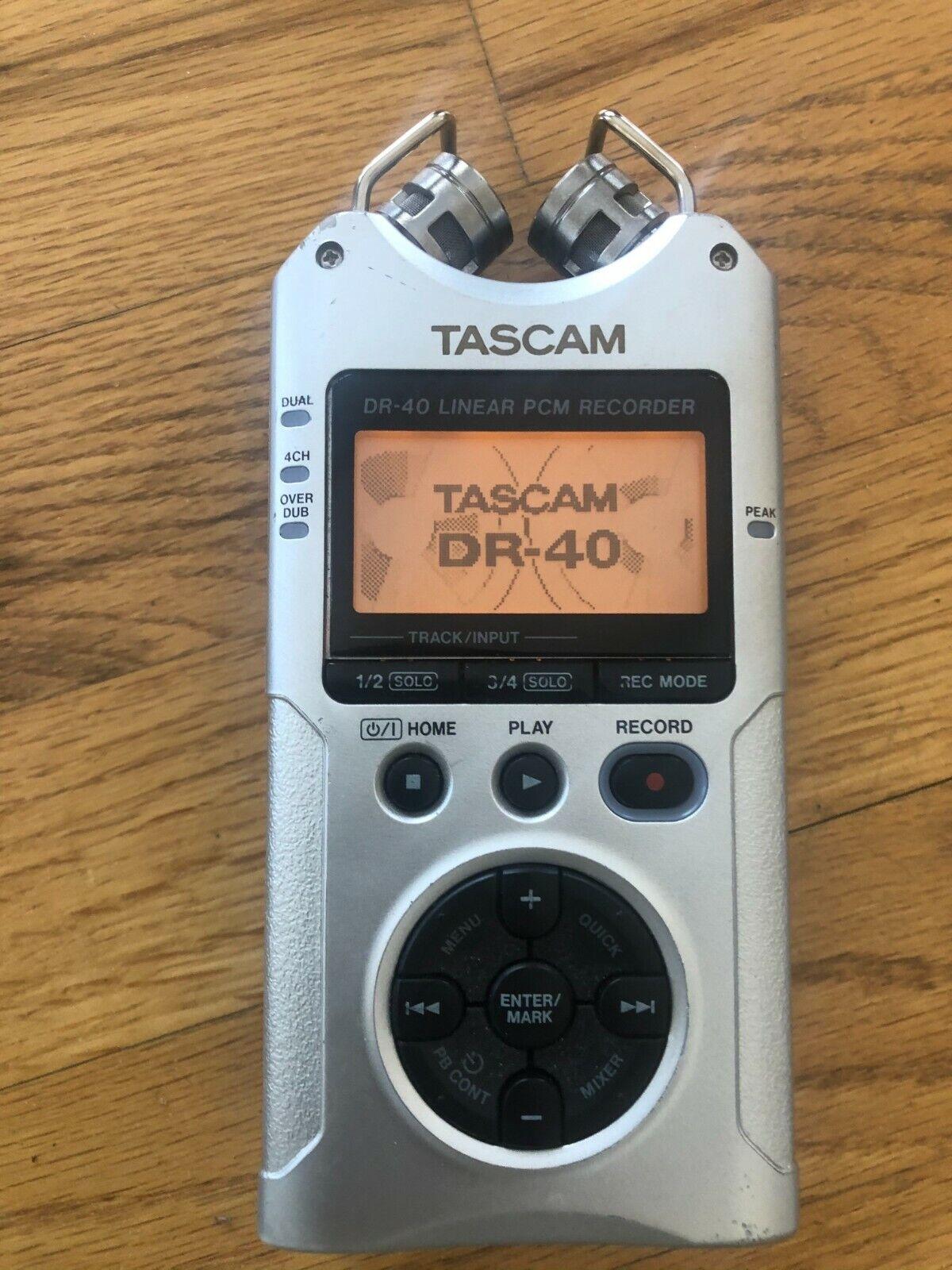 Silver TASCAM DR-40 Multitrack Digital Recorder - $75.00