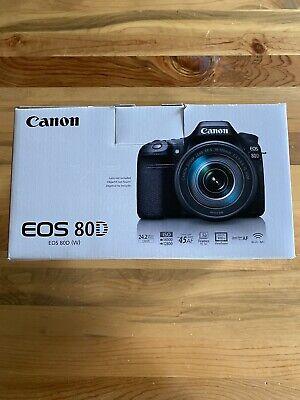 Canon EOS 80D 24.2MP Digital SLR Camera - Black (Body Only) Original Box