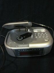 Emerson Research Compact Disc Digital Audio Stereo CD Clock Radio Dual Alarm
