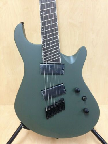 4/4 Haze HS-7FF Military Green Fanned-Fret 7-String Electric Guitar +Free Bag