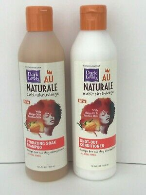DARK & LOVELY AU NATURALE ANTI-SHRINKAGE SHAMPOO & CONDITIONER DUO 13.5