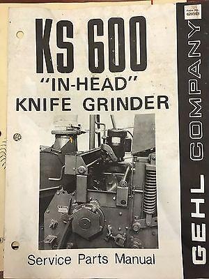 Gehl Parts Catalog Ks600 In Head Knife Grinder 620363 Used