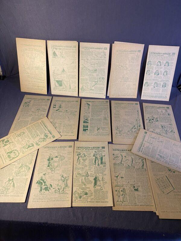 1952 - Lot of 16- Nabisco Straight Arrow - Injun-Uity Cards - Book 4 -duplicates