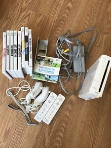 Nintendo Wii Game Console with Controllers and Games!