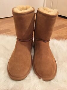 NWOT Beach Feet Suede Sheepskin Size 9 Tan Boots