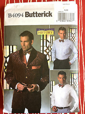 4094 Butterick Mens Smocking Jacket Suit Titantic Costume Pattern UNCUT 34-40