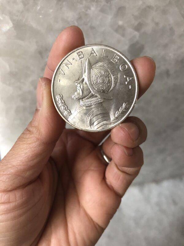 1947 PANAMA SILVER ONE 1 BALBOA UNCIRCULATED COIN Nice BU (KM#13) #15G