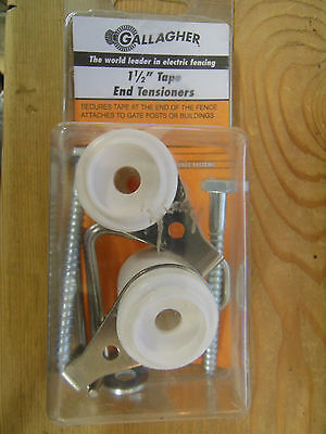 Gallagher Electric Fence 1 12 Tape End Tensioners -2 Pack Livestock Horses New