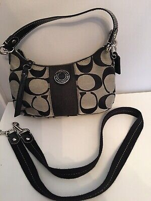 Coach Fabric Bag With Detachable/Adjustable Strap