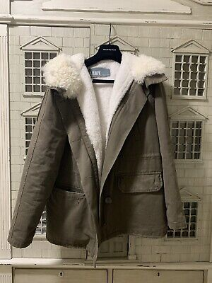 Army by Yves Salomon Lamb Trimmed Parka Size 32