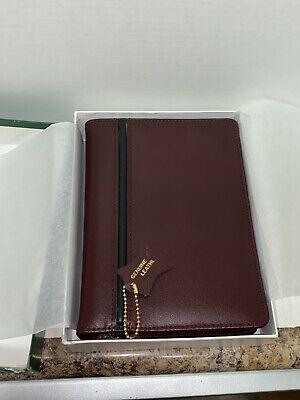 Vintage Leather Day Planner Agenda Organizer W Inserts 6 Ring Reflections