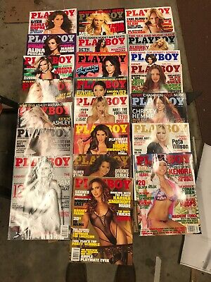 Lot of 22 Playboy Magazines ~ with Centerfolds 2004- 2011 Pam Anderson Kendra